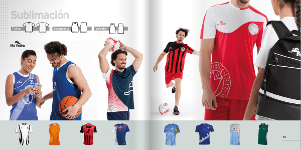 Catálogo de Equipaciones Deportivas 2017